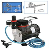 Nouva Multi-Purpose Airbrushing System,Air Brush Kits Dual Action Air Compressor for Painting with 6ft Hose and One Airbrush