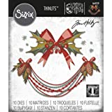 Sizzix 664229 Thinlits Die Set 10 Pack Deck The Halls Colorize by Tim Holtz, Multicolor (Color: Multicolor)
