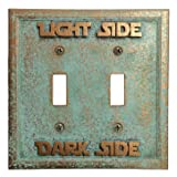 Star Wars (Light/Dark Side) Double Light Switch Cover (Patina) (Color: Patina)