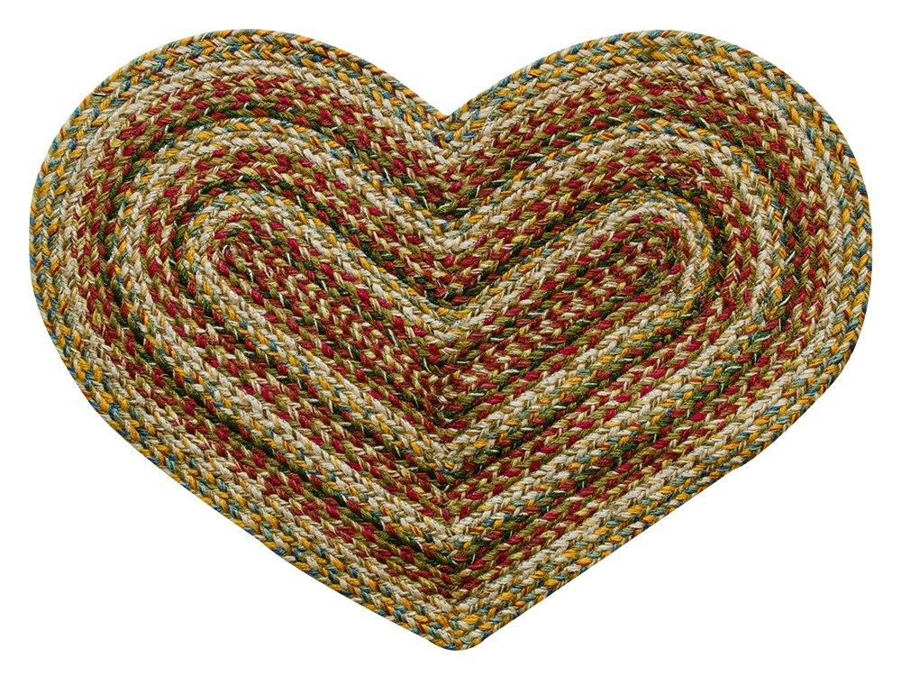 CWI Gifts Plantation Braided Heart Rug, 20 x 30
