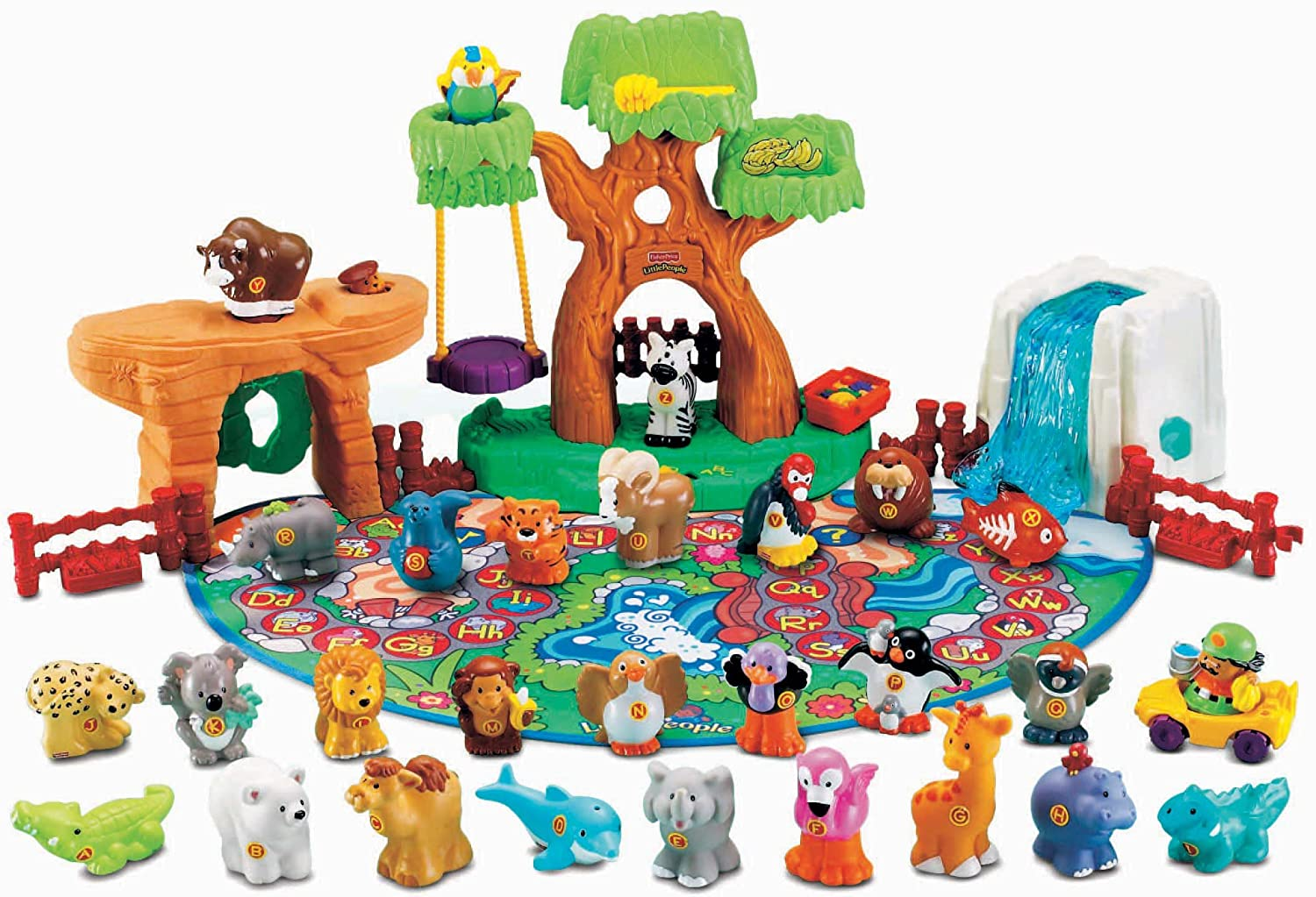 little people a to z learning zoo playset fisher price ebay. Black Bedroom Furniture Sets. Home Design Ideas