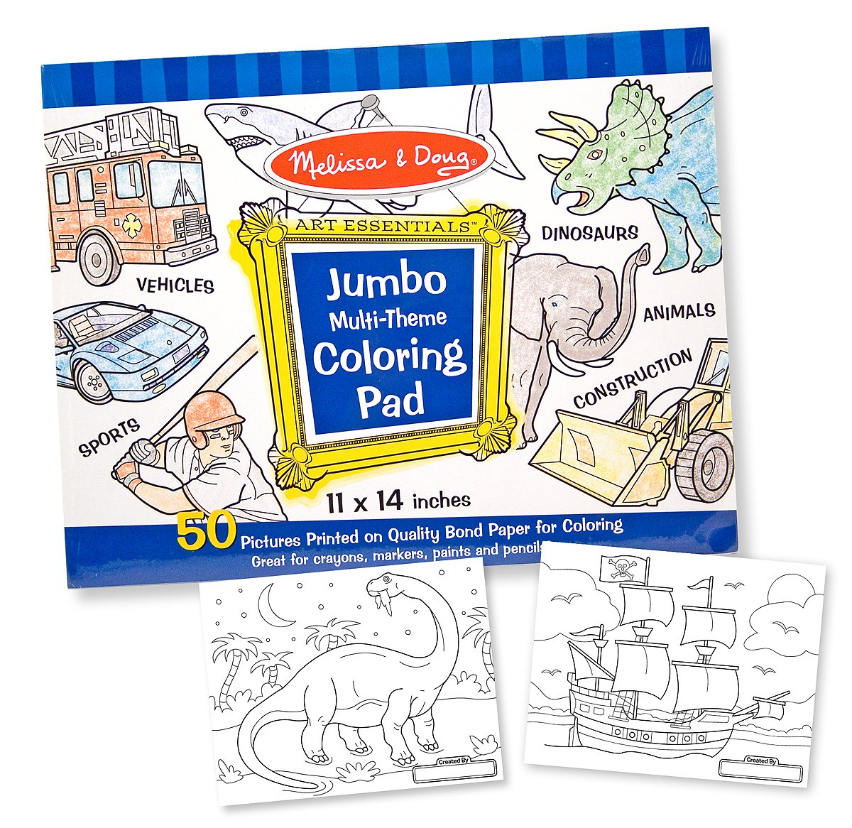 Melissa and Doug Jumbo Coloring Pad- Blue