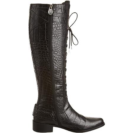 Hunter Women's Beaufort Leather Croc Knee High Boots