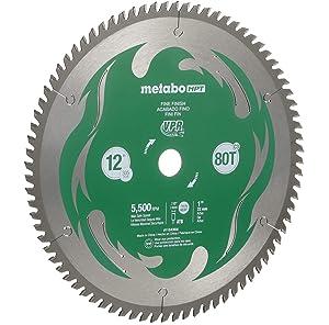 Metabo HPT 115436M 12 80T Miter Saw Blade