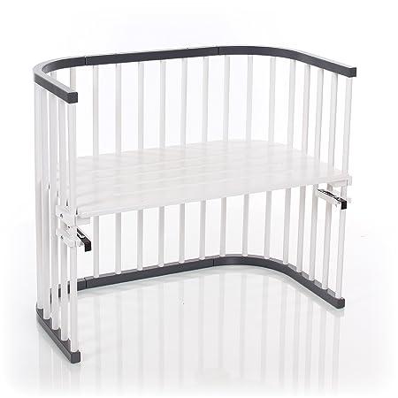 Babybay 160108Lettino, Maxi Grigio Ardesia/laccato bianco extra ventilato, Grigio