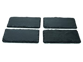 boska 359003 monaco monaco set de 4 planches dessert ardoise cuisine maison maison. Black Bedroom Furniture Sets. Home Design Ideas