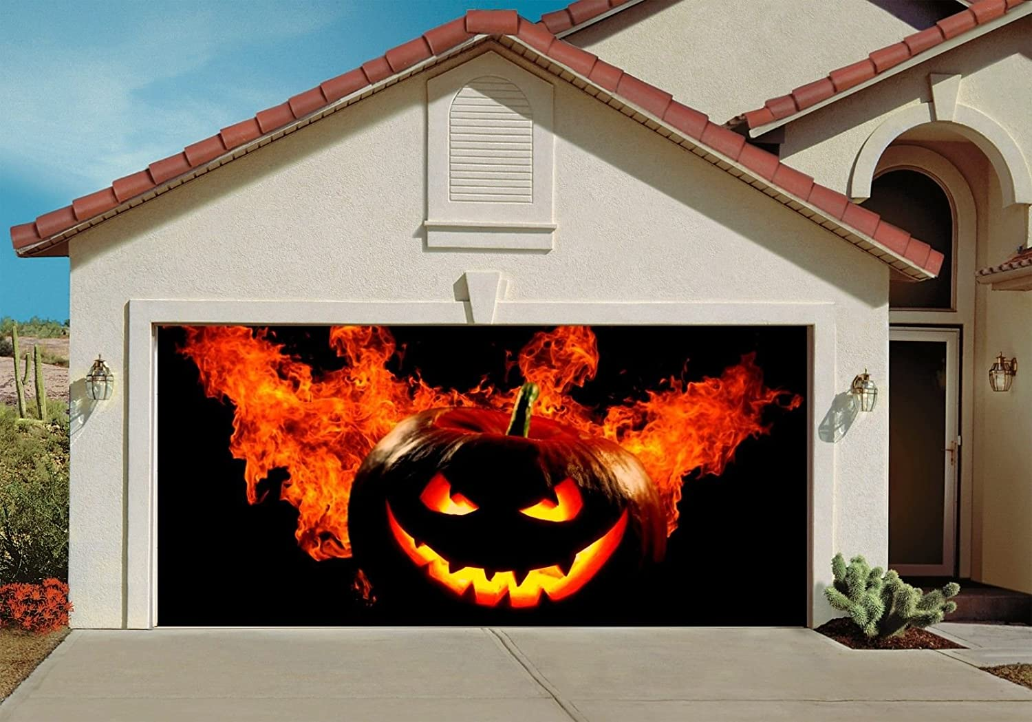 Elegant Halloween Garage Door Decoration Ideas Collections