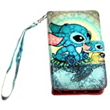 Lilo & Stitch iPhone 8 / 7 / 6s Wallet Case, IMAGITOUCH Folio Flip PU Leather Wallet Case with Kickstand Wrist strap and Card Slots for iphone 8, 7, 6 / 6s (4.7