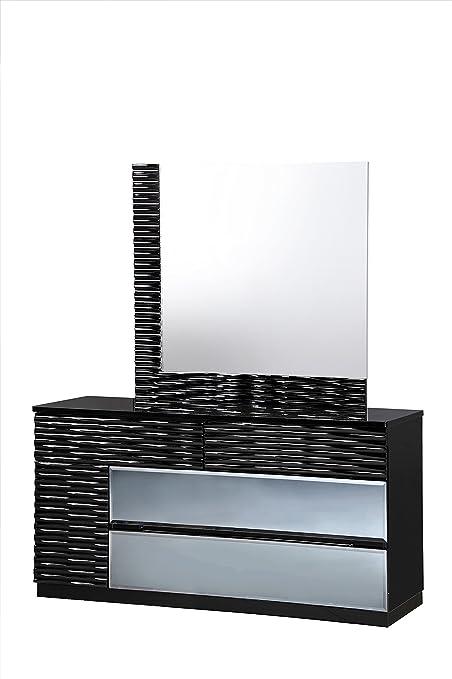 Global Furniture Dresser, Black
