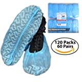 JINCLEAN Premium Shoe Covers 120Packs (60Pairs) | One Free Size Fits Most Max Length - 16.5