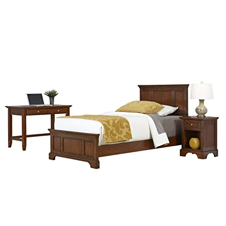 Home Styles 5529-4026 Chesapeake Twin Bed, Night Stand and Student Desk, Cherry