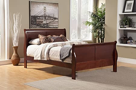 Louis Philippe Ii Louis Phillippe Full Sleigh Bedroom Set in Cherry