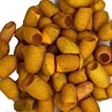Hand Dyed Silk Cocoons, Silk Cut Cocoons, Mulberry Silk Fibres, Selection Pack of 30 Cut Silk Cocoons (Yellow Mellow) (Color: Yellow Mellow)