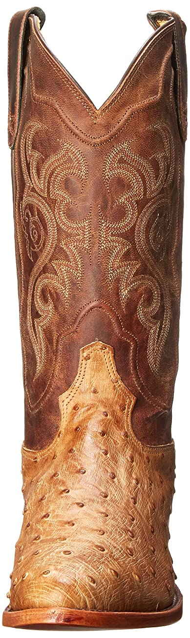 Tony Lama Men's Antique Tan Vintage FQ Ostrich Western Boot 1
