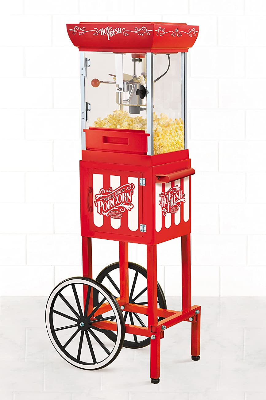 Nostalgia CCP399 48-Inch Tall Vintage Collection 2.5-Ounce Kettle Popcorn Cart 1