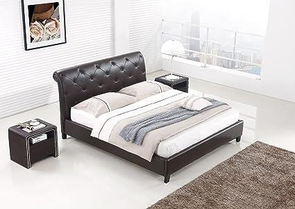 Designer Bett BAROCK MODERN #78 Doppelbett (ALLE GRÖßEN) (180x200 cm, Braun)