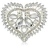 Napier Boxed Silver Heart Pin, 0