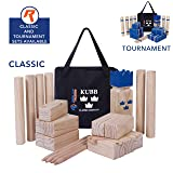Kubb Yard Game Set for Adults, Kids, Families - Fun, Interactive Outdoor Family Games - Durable Pinewood Blocks with Travel Bag - Clean, Games for Outside, Lawn, Bars, Backyards