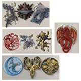 Funshowcase Game Thrones GOT inspired House Sigils and Mottos Silicone Molds for Sugarcraft, Fondant Cake Decoration, Cupcake Topper, Polymer Clay Resin Casting Jewelry and Crafting Projects, 4-in-set (Color: random color)