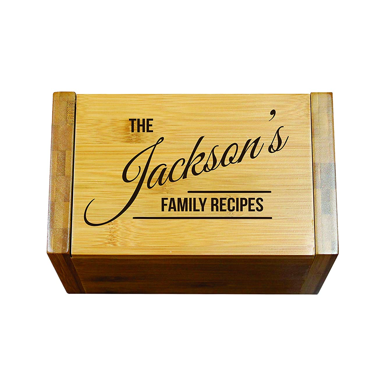 Engraved Recipe Box 4x6 Card Holder - Personalized Custom Gifts For Mom - Kitchen Cooking Gift 5