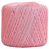 Threadart 100% Pure Cotton Crochet Thread - SIZE 3 - Color 5 - MAUVE -2 sizes 27 colors available (Color: MAUVE, Tamaño: SIZE 3 SINGLE)