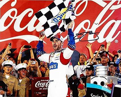 'AUTOGRAPHED 2014 Jimmie Johnson #48 Lowe''s Racing COCA-COLA 600 WIN (Victory Lane Celebration)