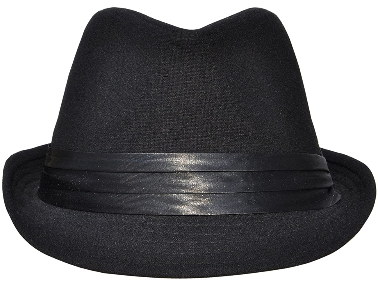 Simplicity Men Women Manhattan Structured Gangster Trilby Wool Fedora Hat 0