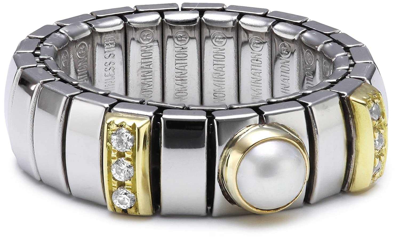 Nomination Damen-Ring N.Y. Klein Perle Weiß Ring größe variabel 040451/013 online kaufen