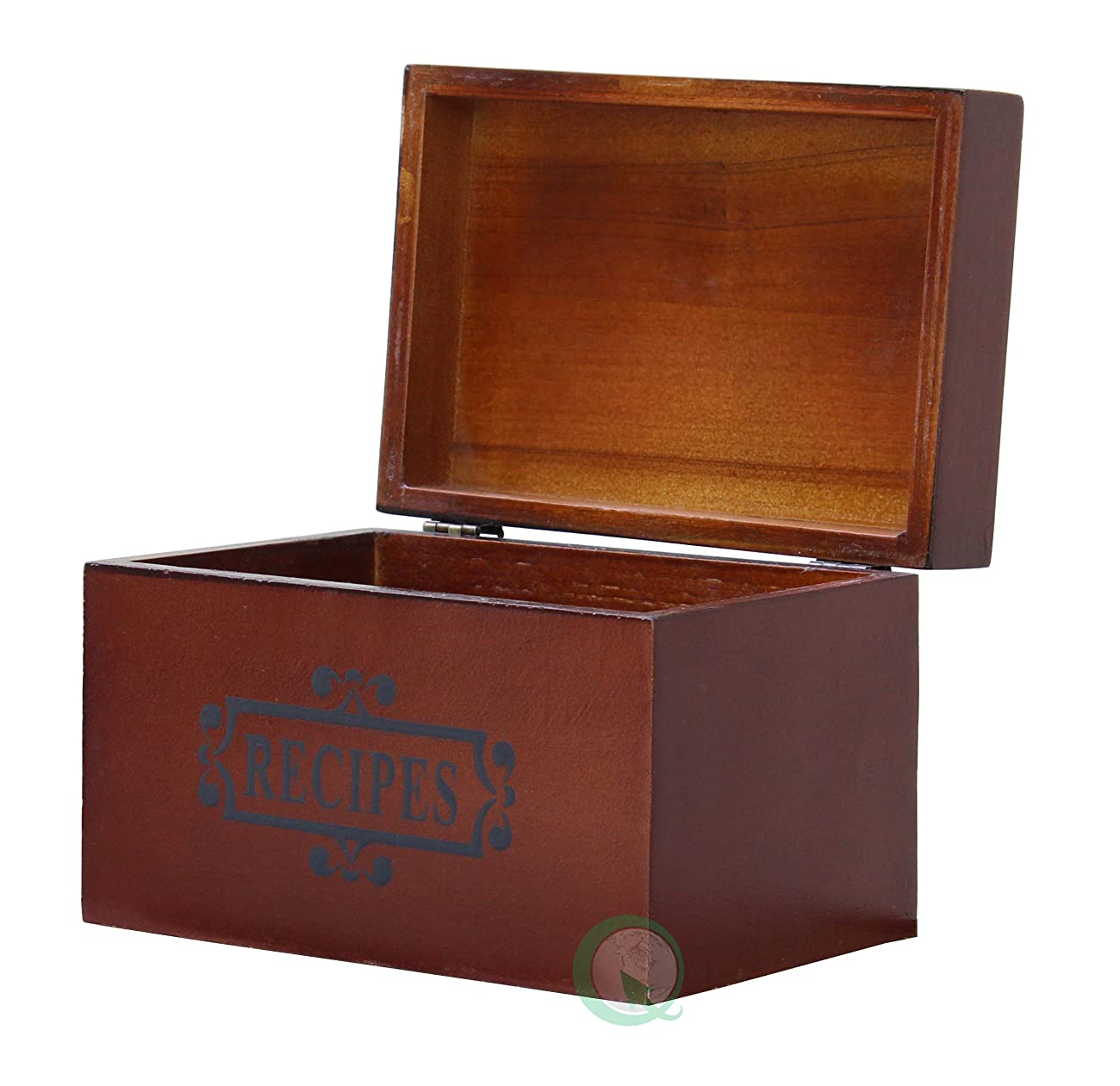 Vintiquewise(TM) Wooden Recipe Box 2