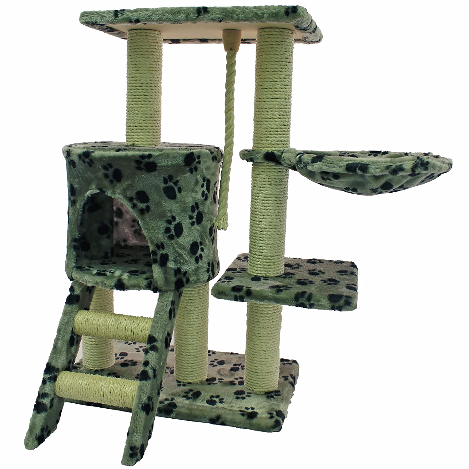 Paw Print Cat Activity Centre and Scratching Tree/Post