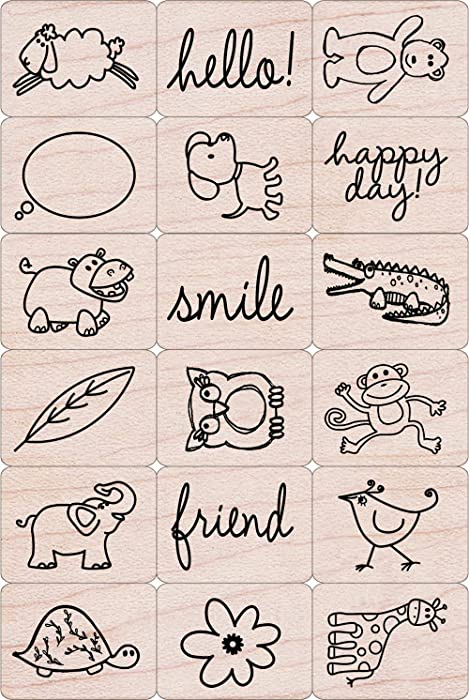 Happy Animals Rubber Stamps