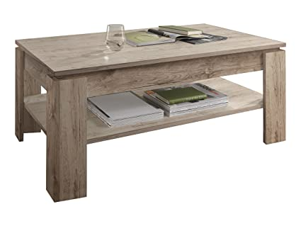 Furnline 1100-112-88 mesa de café de roble San Remo, arena marrón