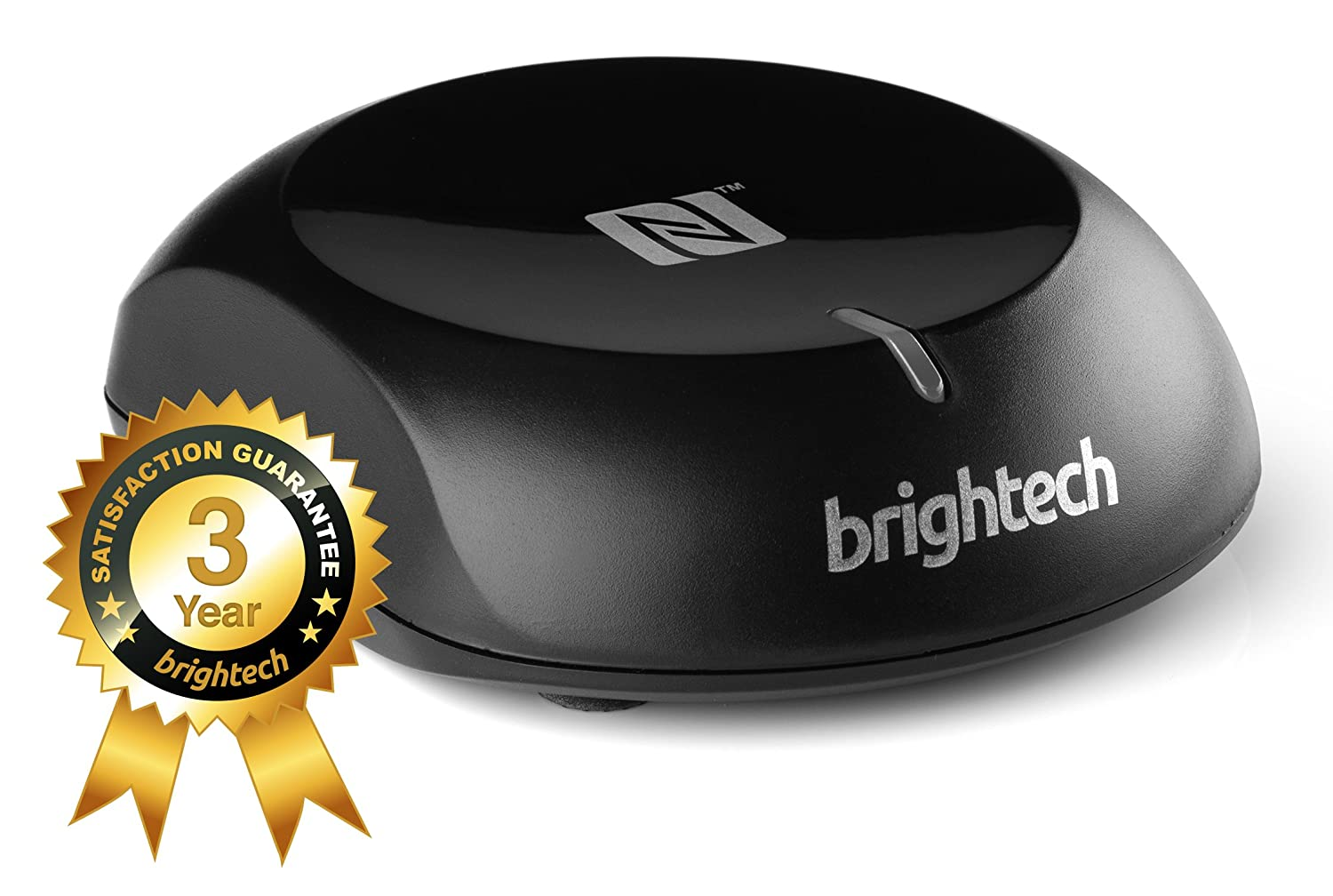 Brightech - BrightPlay Live™ - NFC Enabled HiFi Bluetooth 4.0 Audio Receiver / Adapter - Bring Your Old Stereo Systems and Speakers Back to Life - Fast and Simple Upgrade - Frustration Free Eco Packaging