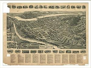 Port Jervis Panoramic Map, 1920