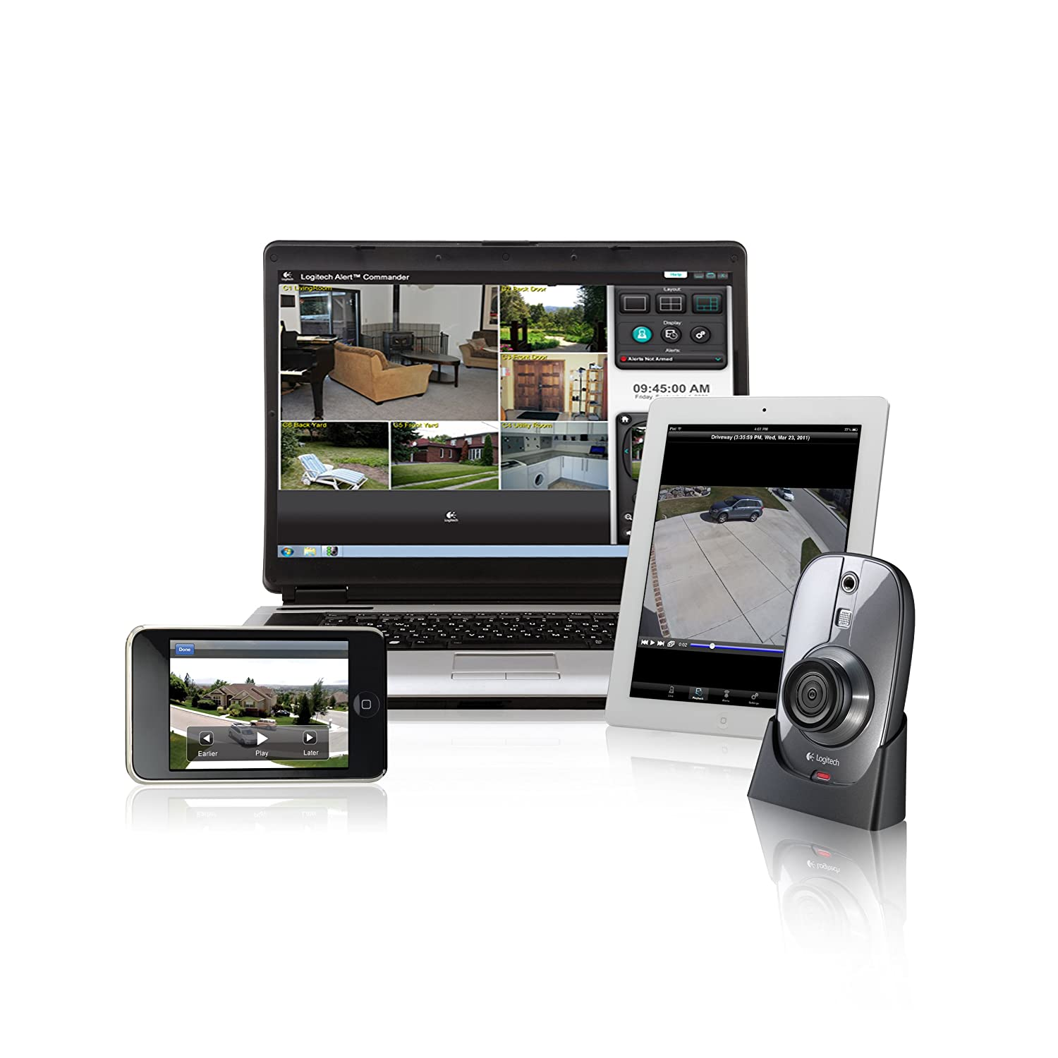 Logitech Alert, Monitoring your home with Sensr.net