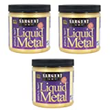 Sargent Art 22-1181 8-Ounce Liquid Metal Acrylic Paint, Gold (3-Pack) (Color: 3-Pack)