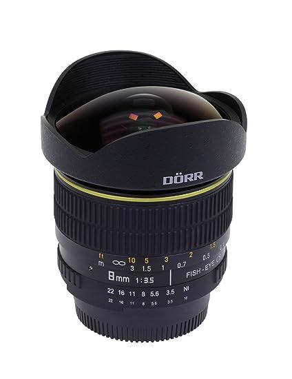 Dörr Fisheye Objectif pour Canon EOS 8 mm Noir