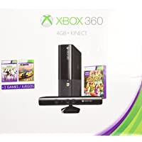 Xbox 360 4gb Kinect Holiday Bundle with 3 Games + Forza Horizons, Kinect Sports, and Kinect Adventures