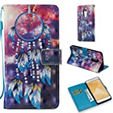 Xiaomi Redmi Note 4X Case, Tznzxm Fashion Colorful Painting PU Leather Slim Magnetic Protective Flip Kickstand [Multi Card/Cash Slots] Wrist Wallet Holster Pouch For Xiaomi Redmi Note4 X Dreamcatcher (Color: Dreamcatcher)