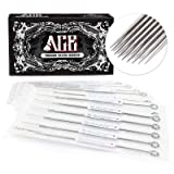 ACE Needles 50 pcs. Round Curved Magnum Sterile Tattoo Needles - 15RM (15 Round Mag)