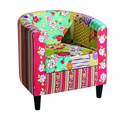 Links 20500040 Sessel Clubsessel Loungesessel Cocktailsessel Patchwork Design mehrfarbig NEU