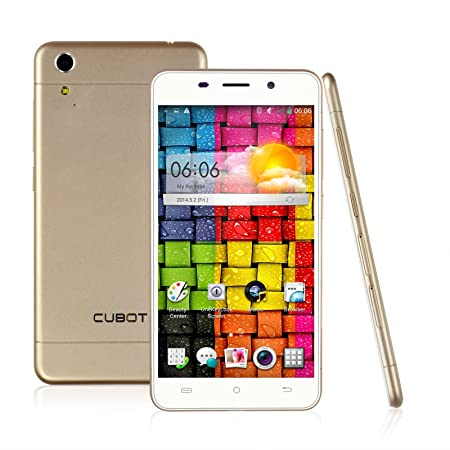 CUBOT X9 Ultra-mince Smartphone débloqué 5 pouces IPS écran 3G Android 4.4 MTK6592 Octa-Core 2G & 16G Double Caméra 8.0MP & 5.0MP, GPS, OTG,WIFI - Or