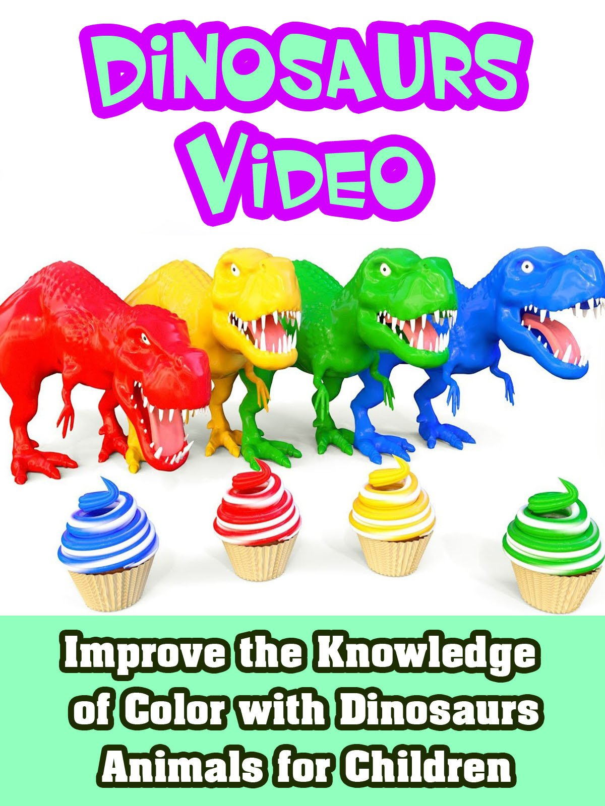 Improve the Knowledge of Color with Dinosaurs Animals for Children