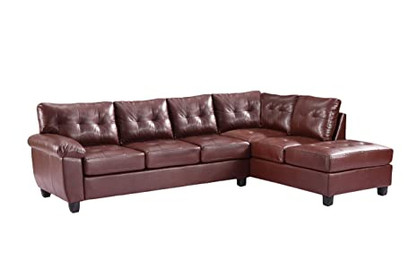 Glory Furniture G900B-SC Sectional Sofa, Brown, 2 boxes