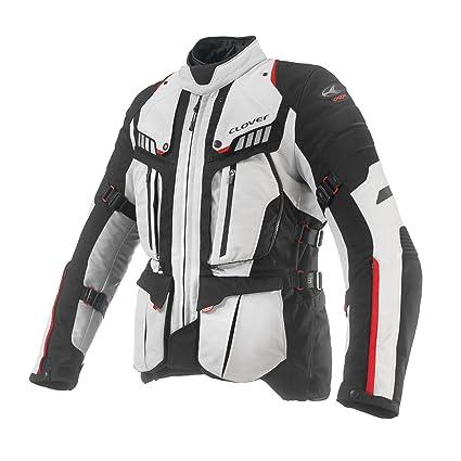 Clover 99172314_ 073Veste de moto de Crossover airbag compatible, noir/blanc, Taille 3X L