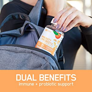 Optimum Nutrition Immunity & Probiotic Gummies to Support A Healthy Immune System for Men & Women, 30 Servings