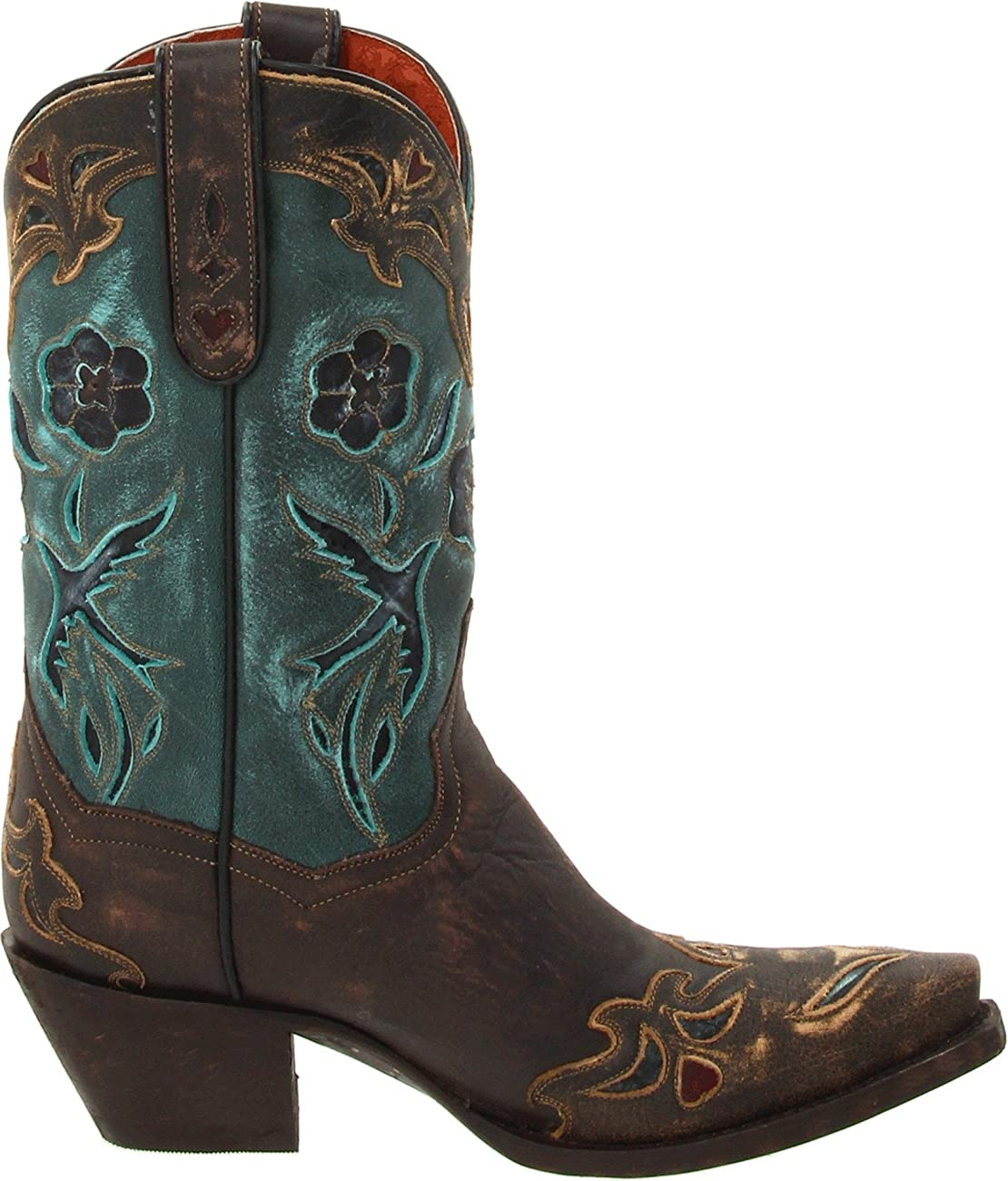 Dan Post Women's Vintage Blue Bird Western Boot 5