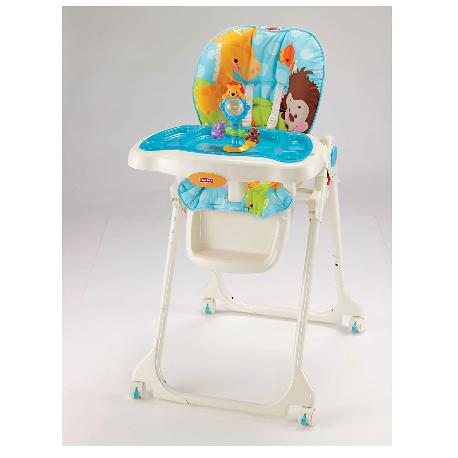 Silla de comer fisher price precious planet sky blue for Silla fisher price para comer