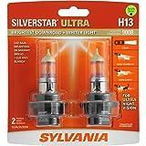 SYLVANIA H13 SilverStar Ultra High Performance Halogen Headlight Bulb, (Contains 2 Bulbs)