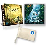 Everdell & Everdell Pearlbrook Expansion Bundle   Includes Convenient Drawstring Storage Bag - Ultimate Board Game Game Night Bundle